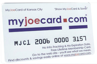 The New MyJoeCard for Lake of the Ozarks - Best Consumer Value in the Lake of the Ozarks area!